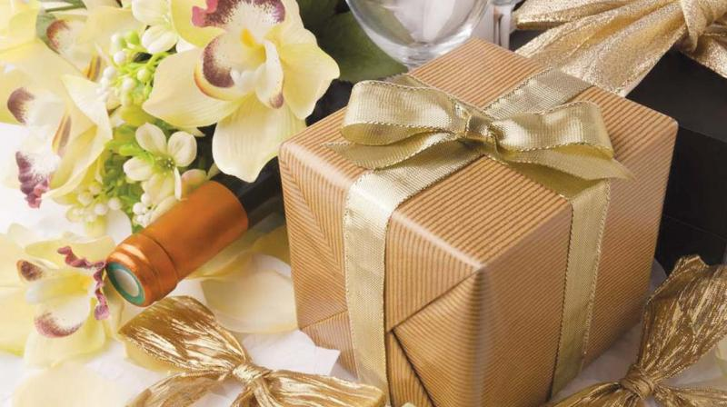 Gifting, as well as weddings, is BIG in India. Considerable sums of money are spent on wedding gifts for the couple, even in a modest Indian wedding.