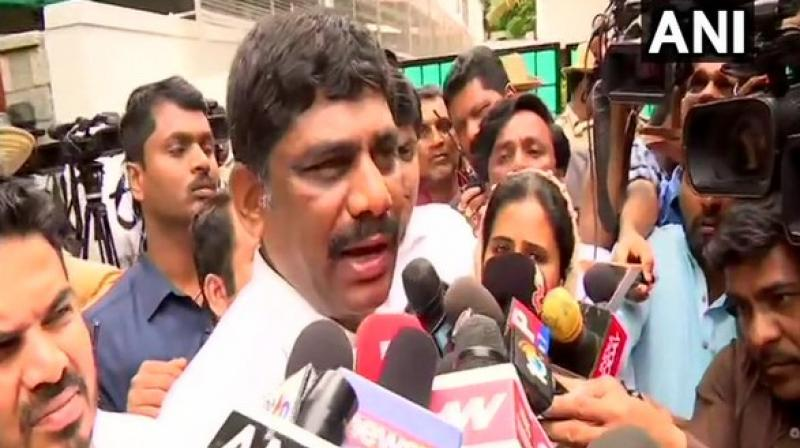 Suresh accused BJP of wrecking the Congress-JD(S) alliance and said, 'BJP national leaders are behind this. BJP people don't want this govt or any opposition party to rule in the state or in the country. They are destroying democracy.' (Photo: ANI)