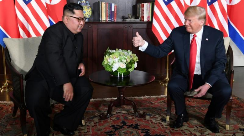 Trump, whose Secretary of State Mike Pompeo is due to travel to Pyongyang next month, refused to commit to a timetable on when he expected North Korea to denuclearize. (Photo: AFP | File)