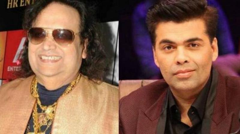 Bappi Lahiri and Karan Johar
