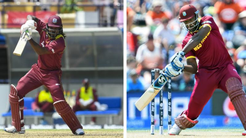 Chris Gayle was not at his brutal best at the recent IPL but Russell's butchering of the bowlers has forced the teams to take note of what could await them at the biggest ICC tournament. (Photo: Windies Cricket Twitter/AFP)