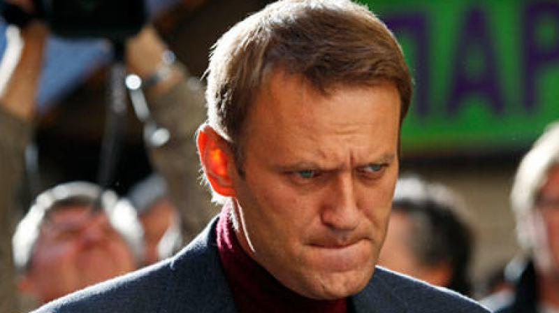 Navalny called the protest over his anti-corruption investigation into Prime Minister Dmitry Medvedev linking the latter to huge mansions and vineyards in a video report. (Photo: AP)