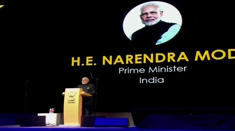 Prime Minister Narendra Modi became the first world leader to address the festival which was launched in 2016 and is in its third edition. (Photo: ANI)