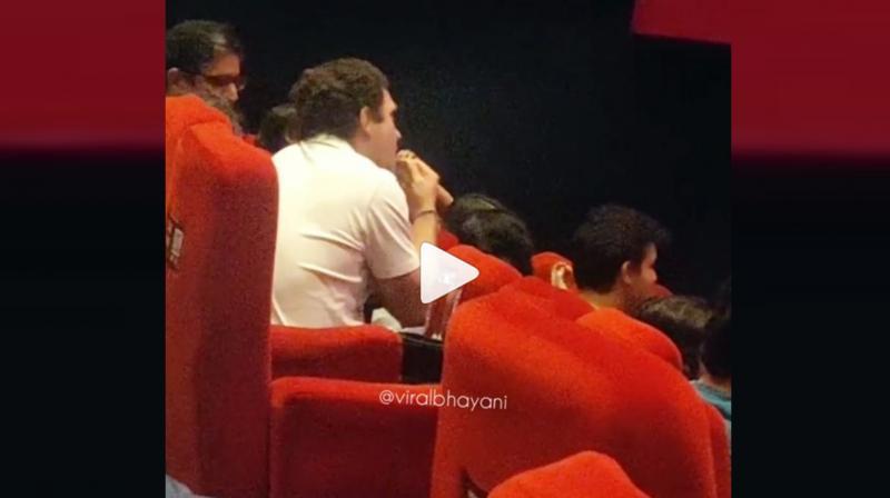 Rahul Gandhi enjoys Article 15. (Video: Viral Bhayani/Instagram)