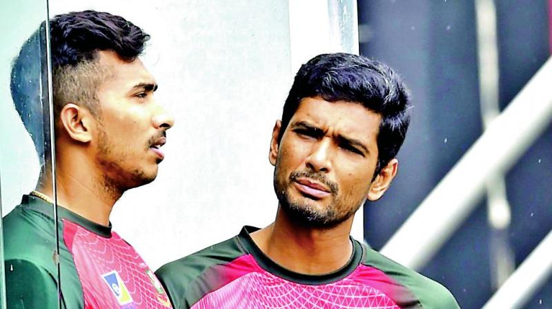 Bangladesh skipper Mahmudullah (right) and Soumya Sarkar. (Photo: AP)