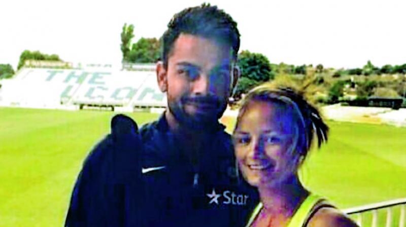 Virat Kohli and Danielle Wyatt.