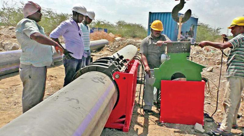 The work is expected to complete by June 1 after which the water will be sent to desalination plants.