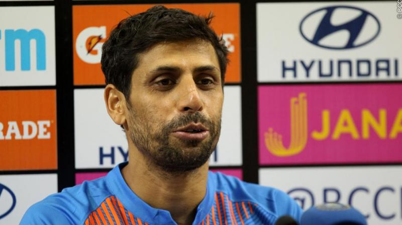 Ashish Nehra made it clear that he did not ask for a farewell game, calling himself lucky that he got one in front of his home crowd.(Photo:BCCI)