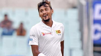 Suranga Lakmal continues his brilliant run in the first India vs Sri Lanka Test as he scalps three in the second innings. (Photo: PTI)