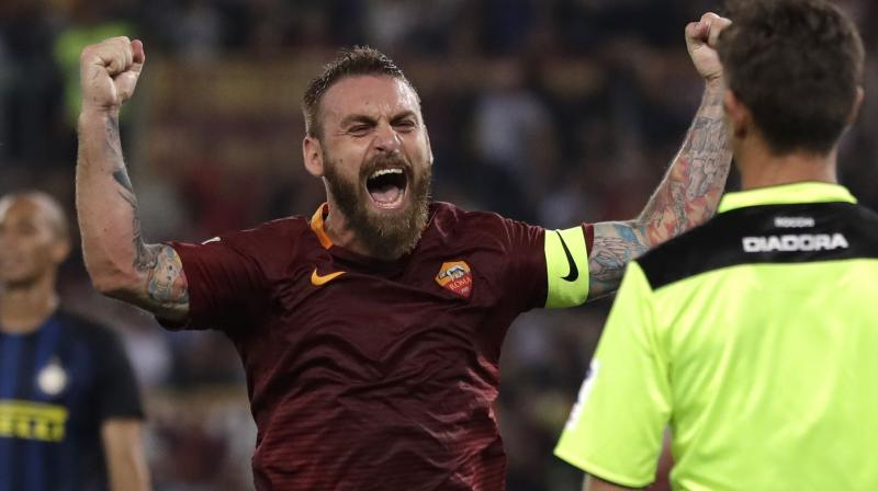 De Rossi has made 615 appearances and scored 63 goals in all competitions. (Photo: AP)