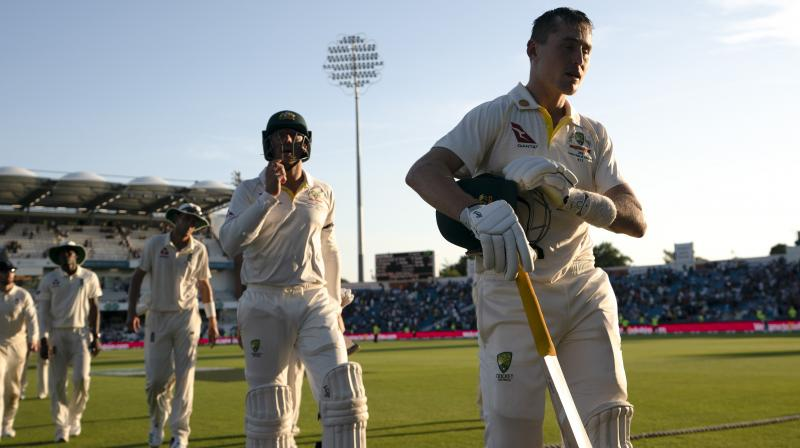Marnus Labuschagne joined Khawaja in the middle and stitched a partnership of 16-run. (Photo: AP)