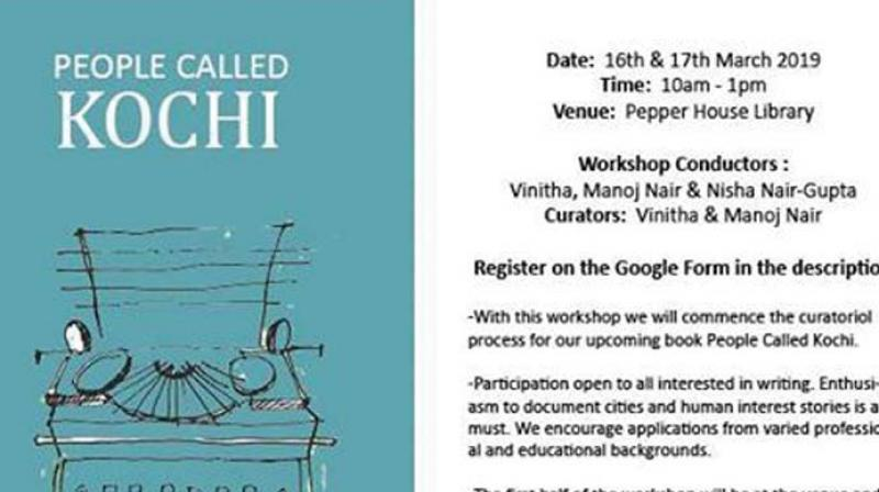 'People Called Kochi' will be an anthology of 50 to 55 true stories of the 'people' from the city, which will in turn become a window to know the city.