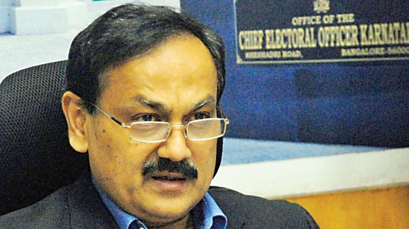 Chief Electoral Officer Sanjiv Kumar