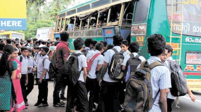 Students will now be allowed to travel free in KSRTC buses by producing previous year bus passes, fee paid receipts or identity cards issued by institutions for the present year.