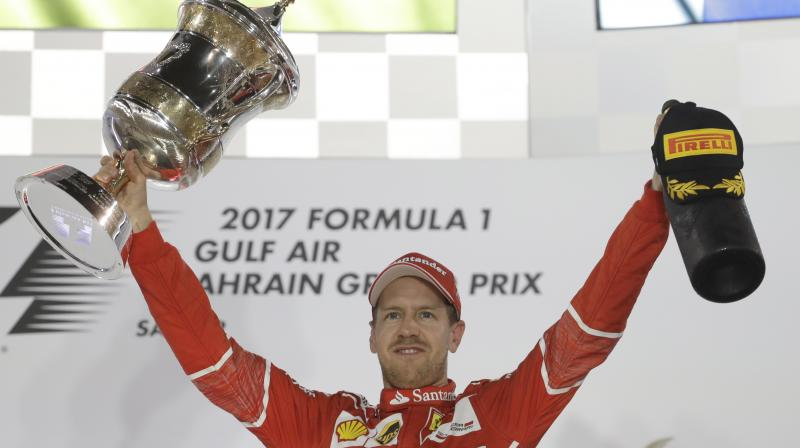 It was Sebastian Vettel's third win in Bahrain and the 44th of his career, a landmark that left him satisfied with his and the team's work which proved that Ferrari, who employed an aggressive strategy, are back as championship contenders.
