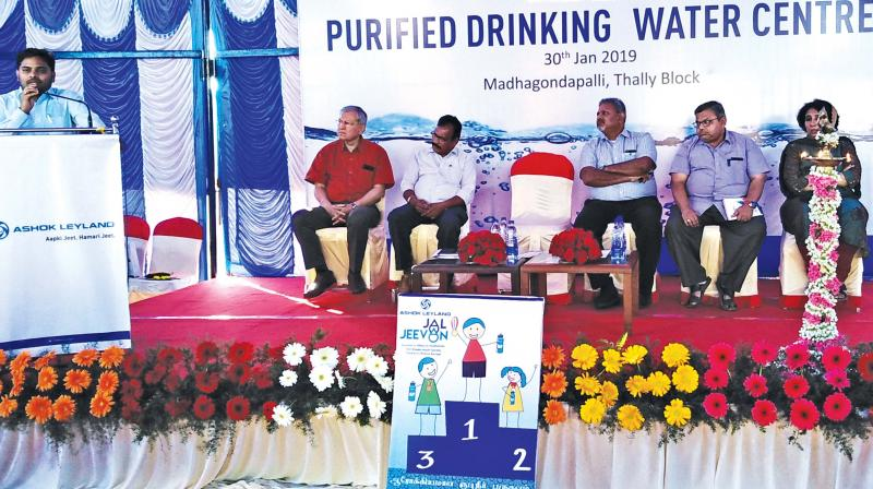 The project is an initiative by truck-manufacturer Ashok Leyland, which has installed such ATMs in villages where the water contamination is high (Image DC)