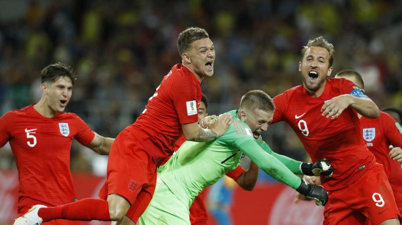 England beat Colombia on penalties in the quarterfinal. (Photo:  AP)