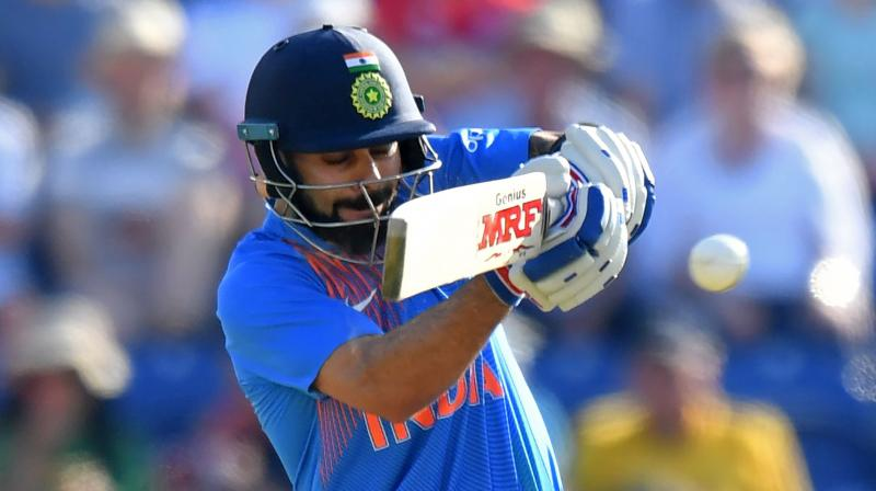 With cricket's blue riband tournament scheduled to be held in UK next year, the ODI series will give Virat Kohli an ideal opportunity to get a drift about the conditions that his men are expected to encounter at exactly same time next year. (Photo: AFP)