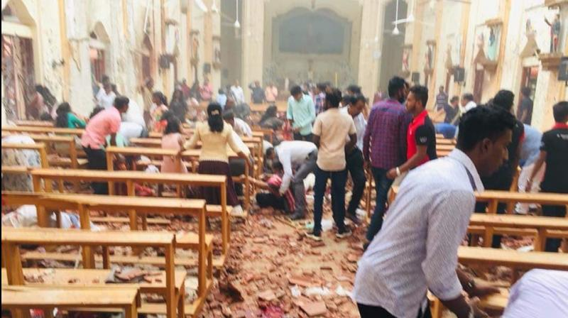 One of the blasts hit St Anthony's Church in Kochchikade of the capital, Colombo. (Photo: Twitter | @aashikchin))