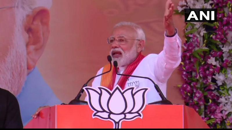 'When Abhinandan was captured by Pakistan, I said (to Pakistan) that If anything happens to our pilot, we will not leave you,' Modi said. (Photo: ANI)