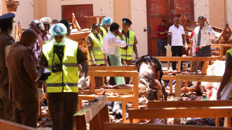 He said that the blast took place after Easter Mass, and that there were about 30 bodies lying in the area of the church. (Photo: AFP)