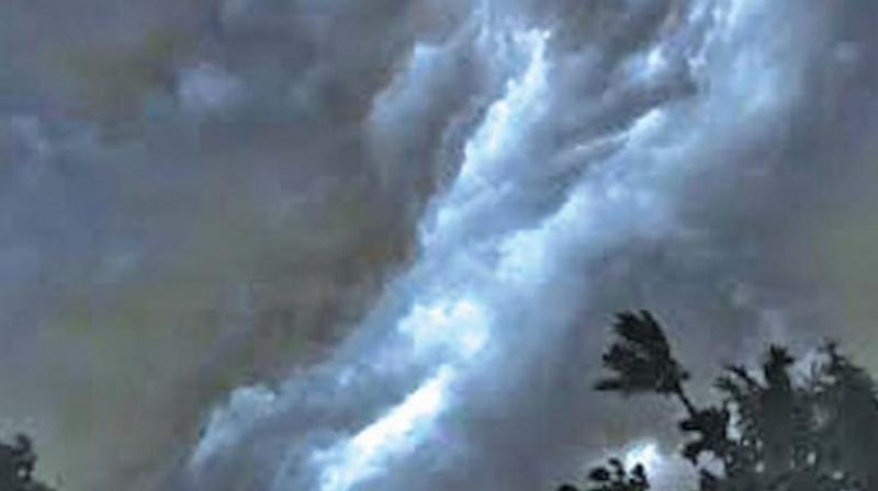 """""""There is a forecast of rainfall decreasing across the city from Friday onwards, as the upper air cyclonic circulation—that brought on the torrential rainfall over the last two days—has moved away from the city. It will gain strength over Maharashtra soon,"""" Dr K Nagaratna, chief of weather prediction, told Deccan Chronicle. (Representional Image)"""