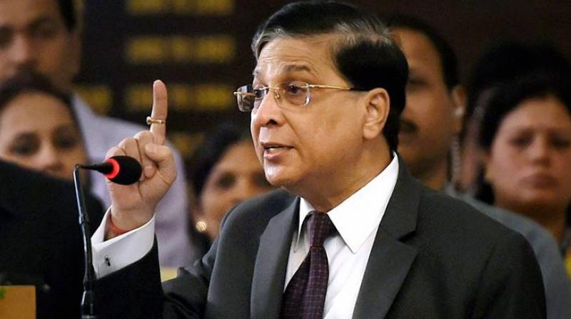 Chief Justice of India Dipak Misra retires on October 2. (Photo: File | PTI)