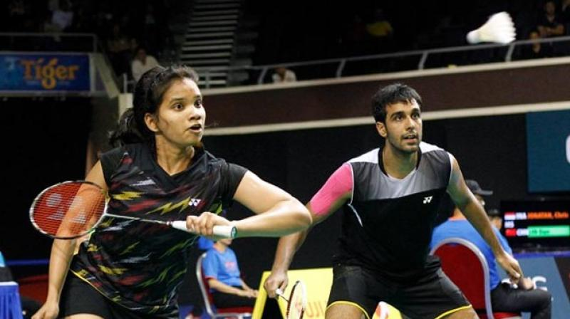 The top seeds Pranaav Jerry Chopra and N Sikki Reddy suffered a narrow defeat against the Malaysian pair of Goh Soon Huat and Shevon Jemie Lai. (Photo: Yonex All England Twitter)