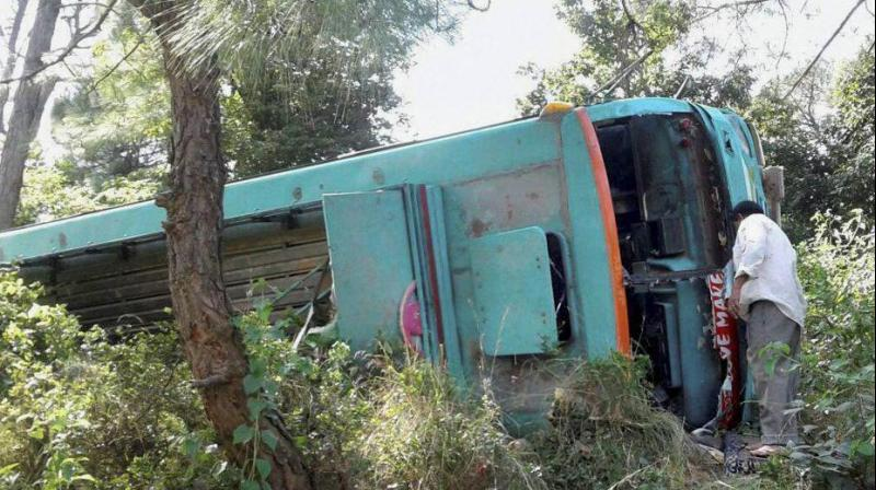 A bus fell into a ravine while it was passing through a slope in Punjab province in Pakistan on Wednesday night. (Representational Image | PTI)