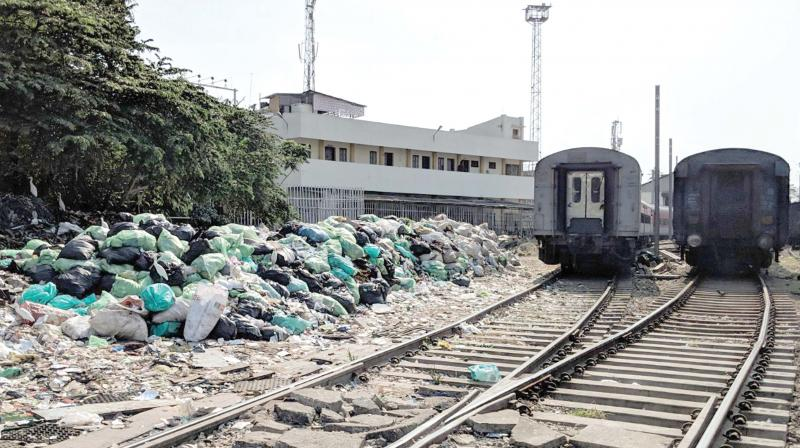 Plastic waste heap at Central railway station. (File pic)