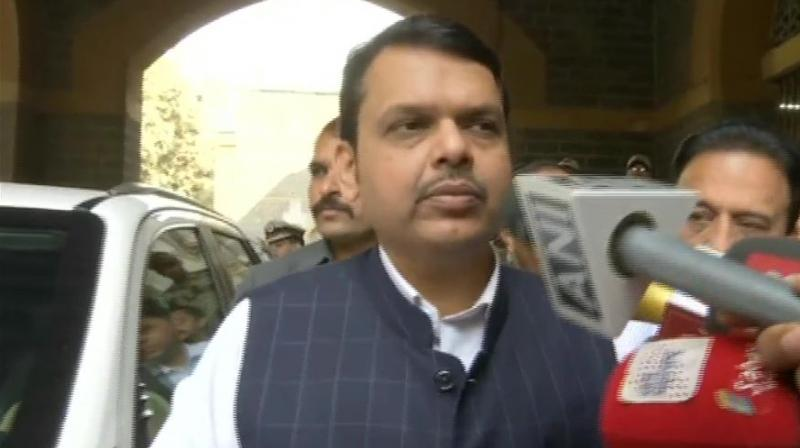 After visiting the injured people, Fadnavis said one is in the ICU while nine others are being treated in the wards and all of them are out of danger. (Photo: ANI | Twitter)