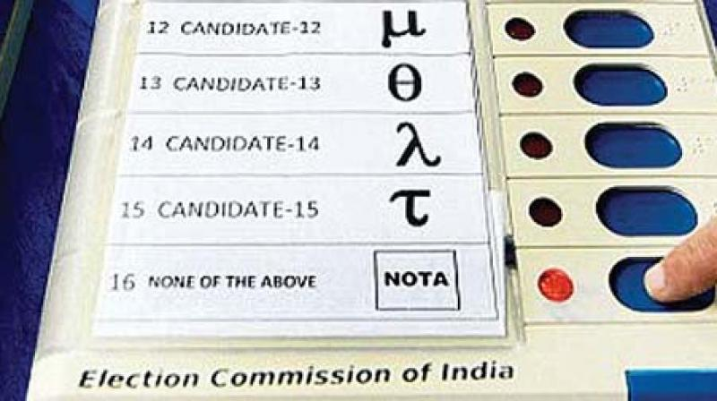 Two ballot units were made ready as 24 buttons were required with the 23 contesting candidates and NOTA. (Representational Image)