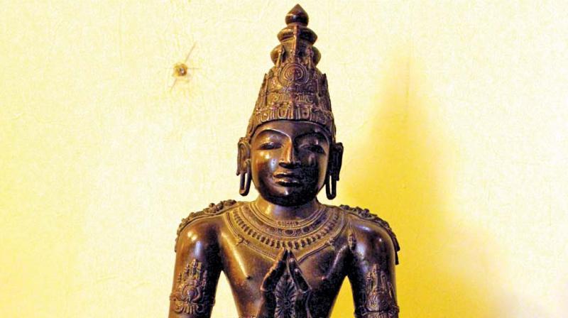 The recoverd Panchaloha icon of Raja Raja Chola. (Photo:DC)