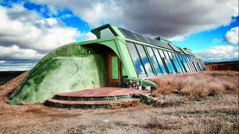 The 'other-worldly' structures (left) can survive in any weather in the world.