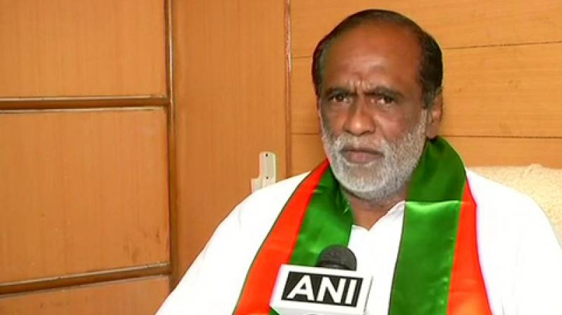 """Laxman further stated that 'the BJP will surely be a part of the government' and added that """"after looking at the mood of thousands of voters in public rallies, no other party than the BJP will sweep the state Assembly polls. (Photo: ANI)"""