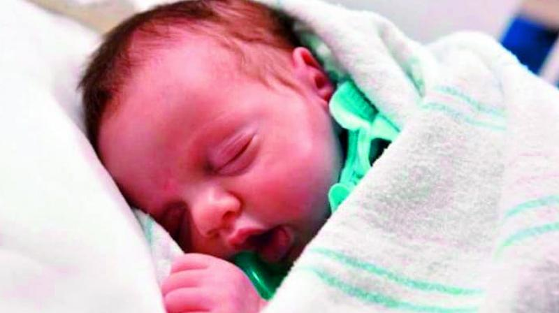 Lynlee Hope was born via C-section in June this year