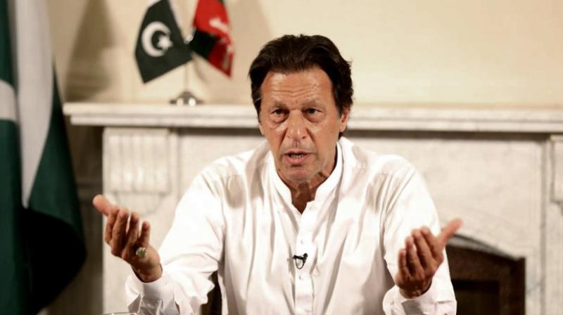 Imran Khan won NA-53 seat by defeating former prime minister Shahid Khaqan Abbasi, bagging 92,891 votes. (Photo: AP)
