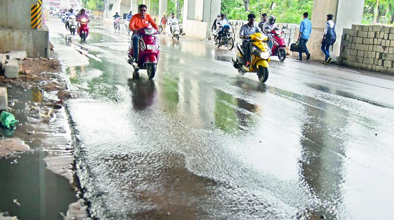 While citizens efforts go waste in areas like Sainikpuri, GHMC officials are lackadisal in solving civic issues in other areas of the city as well.  (Photo:DC)