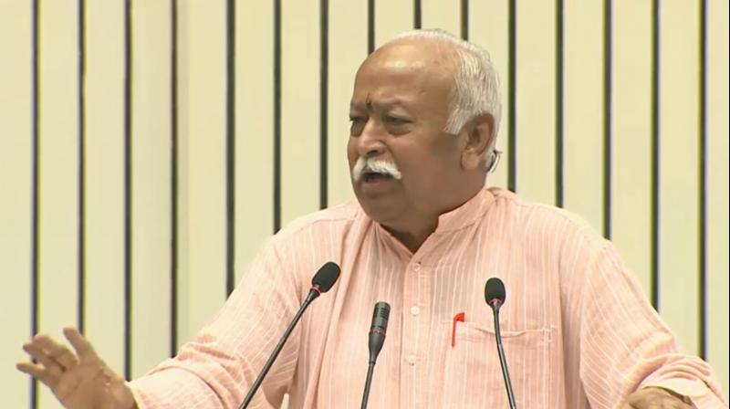 RSS chief Mohan Bhagwat. (Photo: Twitter screengrab)