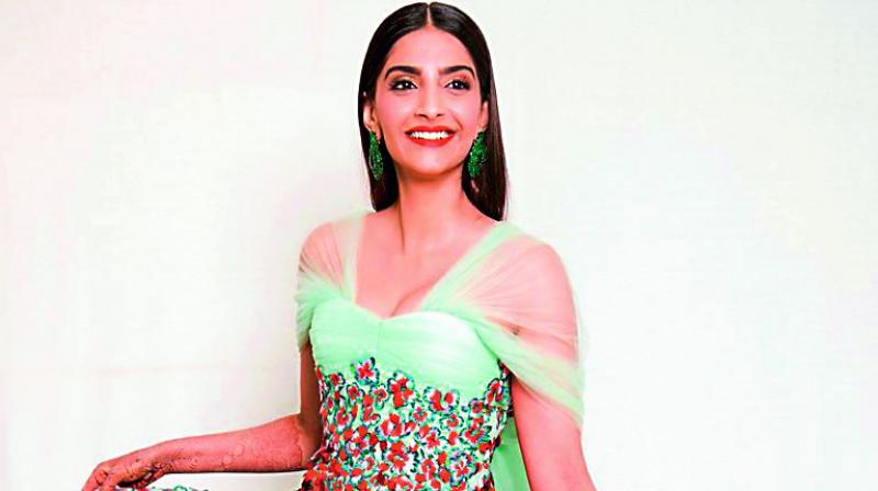 Sonam Kapoor wore an actual wedding dress on the Cannes red carpet