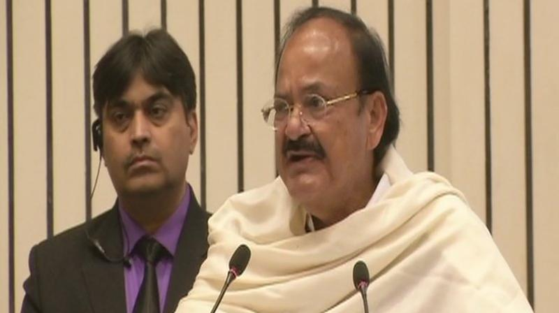 Vice President Venkaiah Naidu was speaking at an event to release a book on former VHP chief late Ashok Singhal. (Photo: ANI)