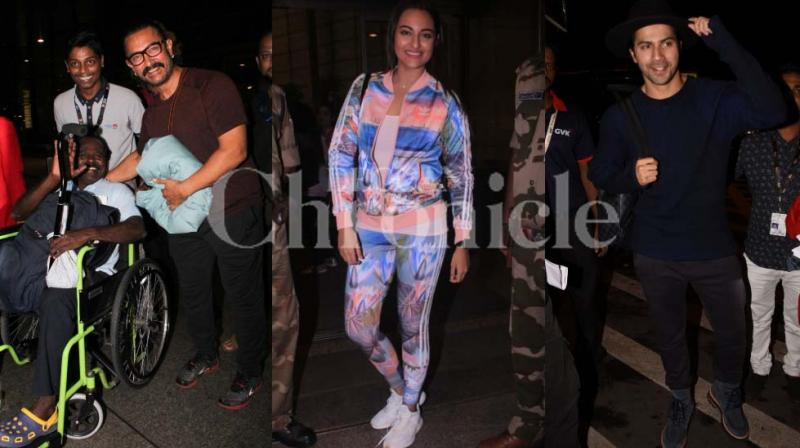 Bollywood has geared up for IIFA and celebrities have left to Bangkok for the same. Among those spotted were Aamir Khan, Sonakshi Sinha, Varun Dhawan, Arjun Kapoor and others.