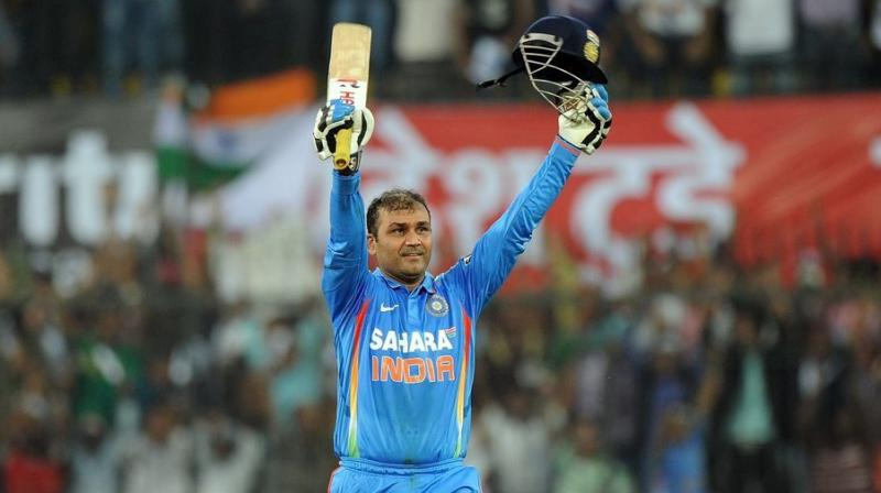 On this day, Virender Sehwag became second batsman to score 200 in ODIs