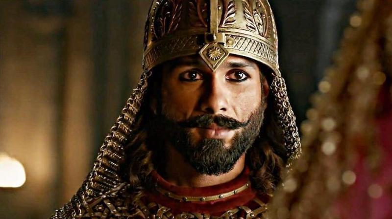 Shahid Kapoor in a still from 'Padmaavat'.