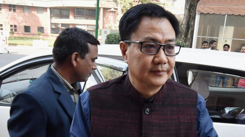 Minister of State for Home Affairs Kiren Rijiju said the Centre has not filed any affidavit in the Supreme Court in regard to the Rohingyas matter. (Photo: File | PTI)