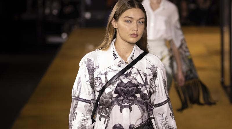 The Burberry creative chief had a star-studded catwalk to unveil the Spring/Summer 2020 line with models including Kendall Jenner. (Photo: AP)