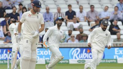 England have lost Keaton Jennings and Alastair Cook with Ishant Sharma delivering the early blow for India. (Photo: AP)