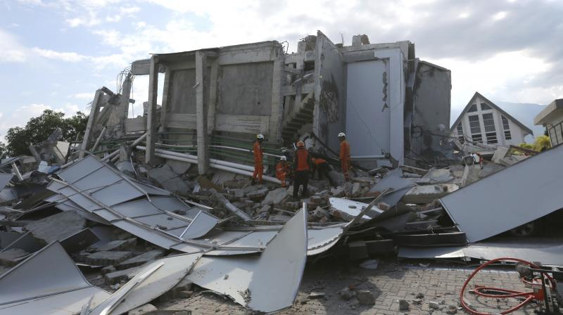 Indonesian president Joko Widodo visisted the region to see the devastation for himself on Sunday. (Photo: AP)
