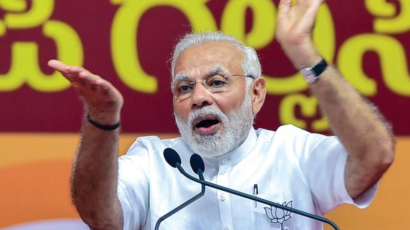 Modi raps Congress government for political violence in Karnataka