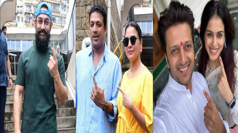 Bollywood celebs vote in the city. (Photos: Viral Bhayani/Instagram)